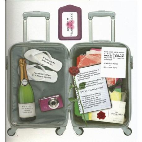 de boda originales maleta de viaje