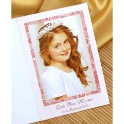 Porta fotos de comunión niña sonrrisa