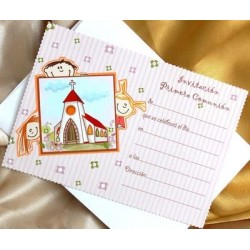 Invitacion de comunión niños iglesia