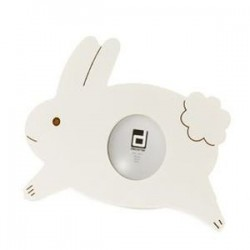 Portafoto conejo blanco