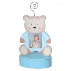 Portafoto clip oso azul