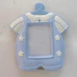 Portafoto resina traje niño Azul