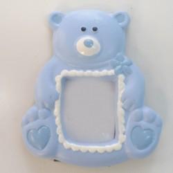 Portafoto resina oso Azul/Rosa