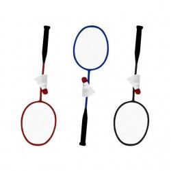 Raqueta de badminton con volante