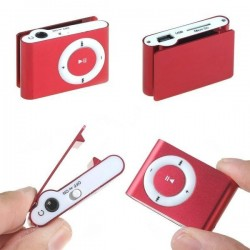 Mp3 player con clip con auriculares con cable usb en caja de regalo