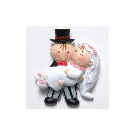 Iman novia en brazos Pita