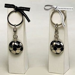 Llavero metalico pelota futbol + estuche