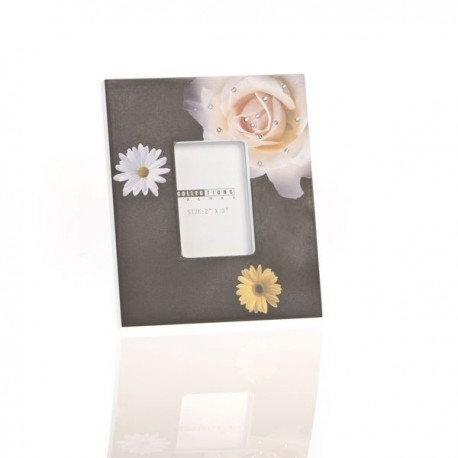 Portafoto madera flower