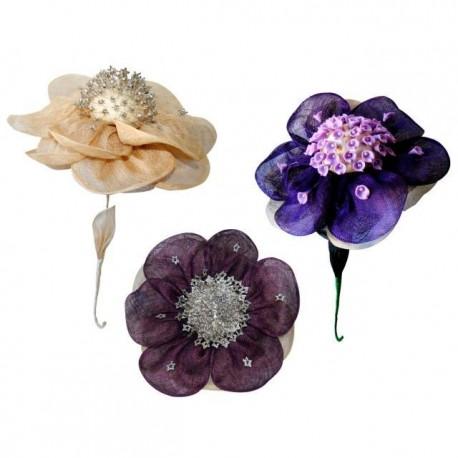 Flor sinamay para alfileres R911