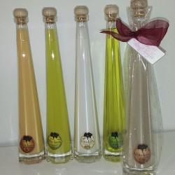 Botella Orujo Piramidal Irene + Celofán + Lazo