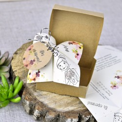 Invitación de boda citronella