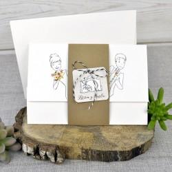 Invitación de boda calabaza cochinchín