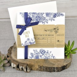 Invitación de boda guanábana