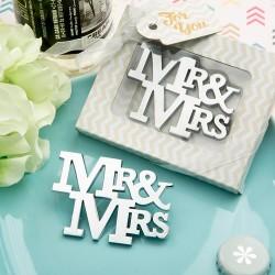Abrebotellas mr & mrs  en caja regalo
