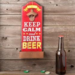 Abridor de botellas de pared keep calm