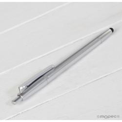 Bolígrafo  plata mate con puntero táctil