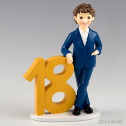 Figura para pastel 18 aniversario chico chaqueta