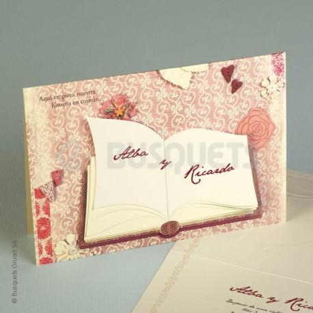 Invitación de Boda lovebook