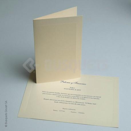 Invitación de Boda Forro Luxe