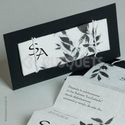 Invitación de Boda Zen Origin