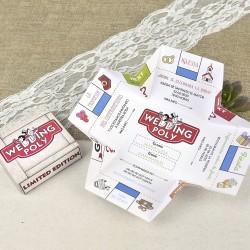Invitación de boda Monopoly