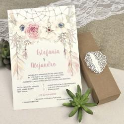 Invitación de boda pasaporte corazón