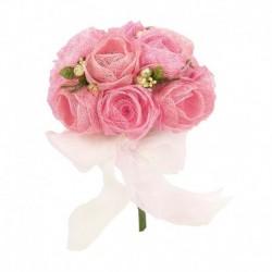 Ramo flores sinamay rosas