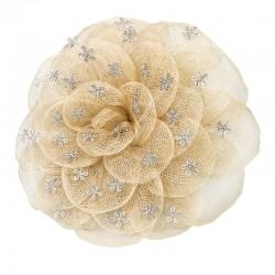 Rosa tradicional sinamay beige