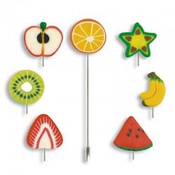 Alfiler fimo frutas