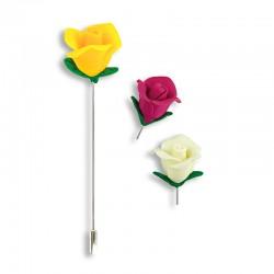 Alfiler fimo rosas