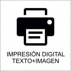 Impresión texto digital + imagen
