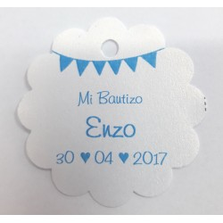 Tarjeta Regalito Bautizo Papel perlado 6
