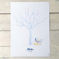 Lámina árbol huellas Pit Pita cochecito niño