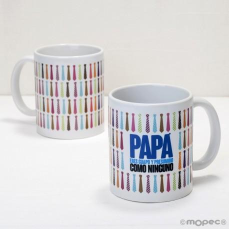 Taza cerámica Papá corbatas en caja regalo