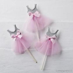 Pic bailarina gris-rosa
