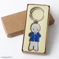 Llavero niño comunión chaqueta azul caja kraft