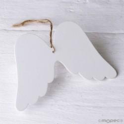 Colgante madera alas Ángel de la Guarda