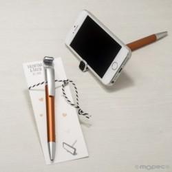 Boli ocre para móvil con borra huellas en punto de libro