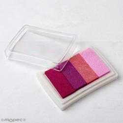 Almohadilla  de tinta degradado rosa para dedo