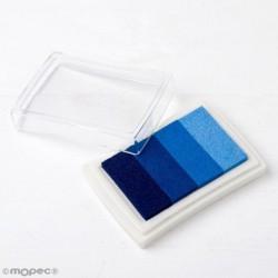 Almohadilla  de tinta degradado azul para dedo