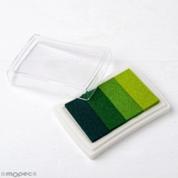 Almohadilla  de tinta degradado verde para dedo