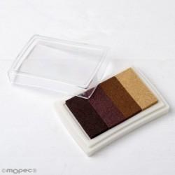 Almohadilla  de tinta degradado marrón para dedo