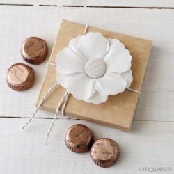 Flor adhesiva de lino en estuche 4 torinos