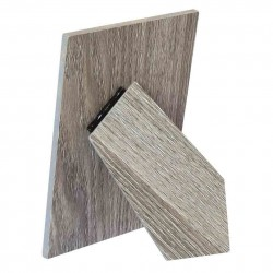 Portafotos adhesivo madera Marrón Ceniza