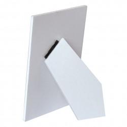Portafotos adhesivo madera blanco