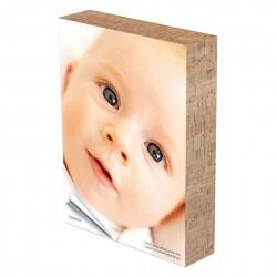 Marco madera adhesivo de doble cara color Símil Corcho