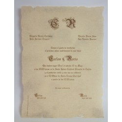 Invitacion de boda Aston