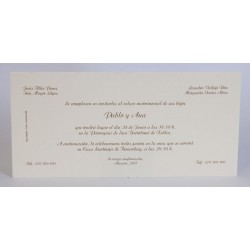 Invitacion de boda Alfalfa