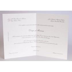 Invitacion de boda Blanco