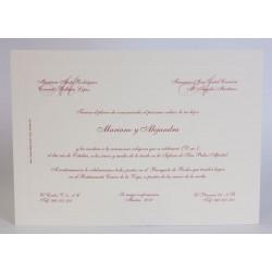 Invitacion de boda Aparejo